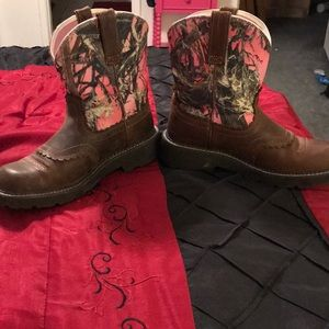 Ariat Ladies Pink Camo FatBaby Boots